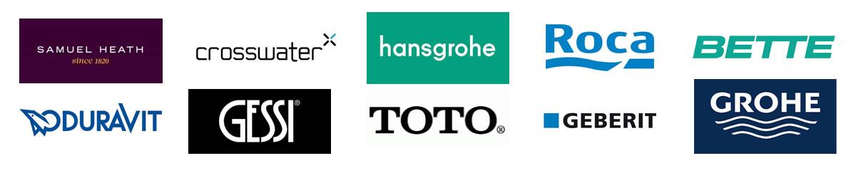 Bathroom manufacturers logos