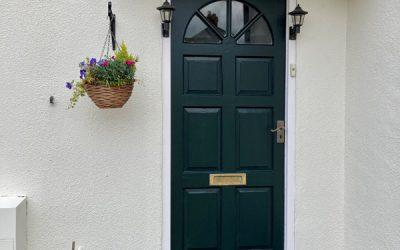 Front Door Canopy & Wall Restored In Oxford