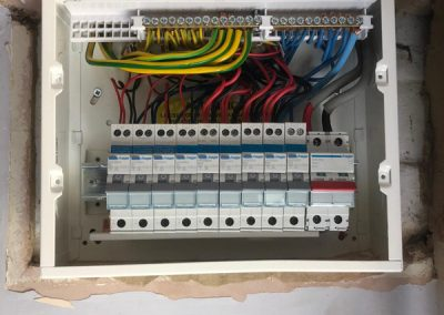 Electrician Installation Of A Fuse Board In Thame
