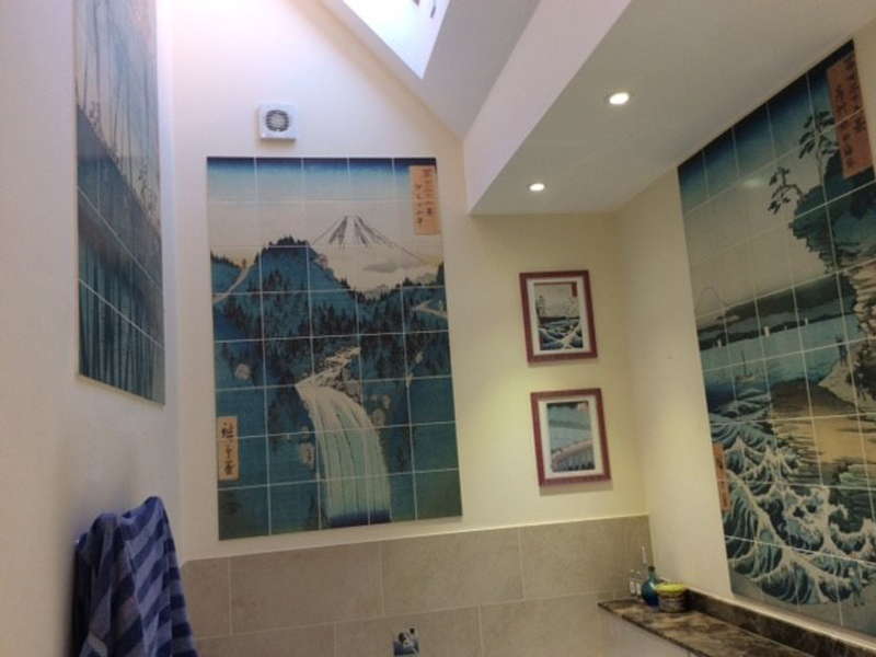 Custom Printed Tiles For A Home In Oxfordshire