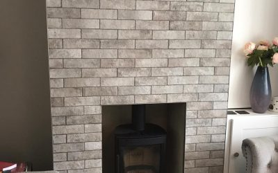 Tiling A Chimney Breast In Oxfordshire